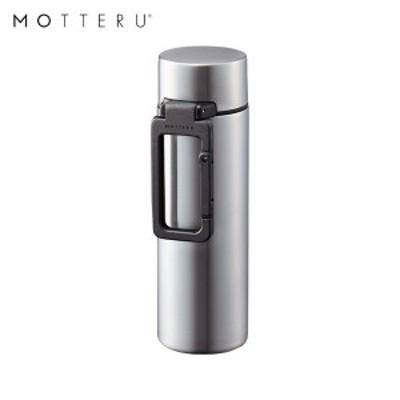 全品P5~10倍 MOTTERU カラビナハンドルサーモステンレスボトル 130ml MO-3003-005 シルバー ゴーウェル 水筒 保冷 保温 2層構造 直飲み
