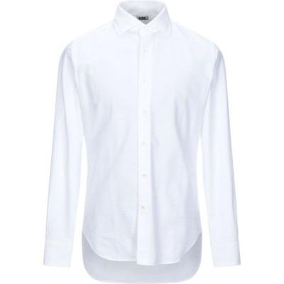 MCR メンズ シャツ トップス Solid Color Shirt White