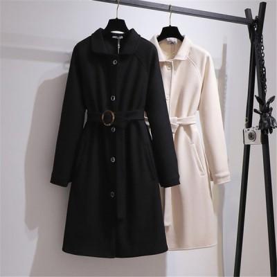 コート レディース ダッフルコート ルーズミディコート レディースファッション 大きいサイズ 長袖 2XL 3XL 4XL 5XL 6XL 秋 冬