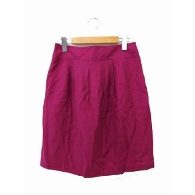【中古】アンタイトル UNTITLED スカート フレア ギャザー ミニ 無地 シンプル 2 パープル 紫 /KT41 レディース