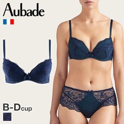 オーバドゥ Aubade Courbes Divines ブラジャー 3/4カップ ダブルパデッド 総レース 単品 SOPRANOカラー