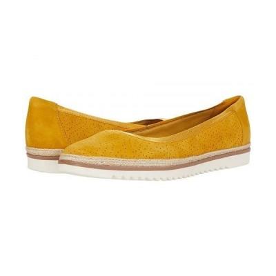 Clarks クラークス レディース 女性用 シューズ 靴 フラット Serena Kellyn - Yellow Suede