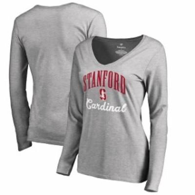 Fanatics Branded ファナティクス ブランド スポーツ用品  Fanatics Branded Stanford Cardinal Womens Ash Victory Script Long Sleeve