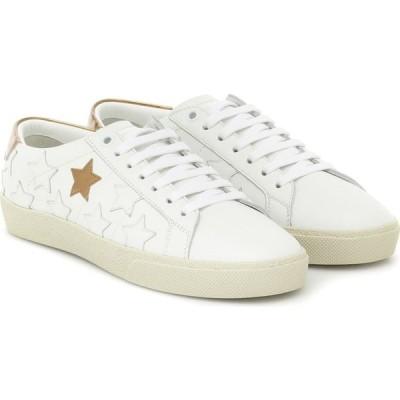 イヴ サンローラン Saint Laurent レディース スニーカー シューズ・靴 Court Classic Leather Sneakers Blanc Oprique/Oro Sc