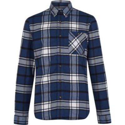ティンバーランド Timberland メンズ シャツ トップス Long Sleeve River Check Shirt Dark Denim