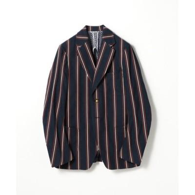 【トゥモローランド】 LE VERNEUIL リネンコットン テーラードジャケット メンズ 68ネイビー系 42 TOMORROWLAND