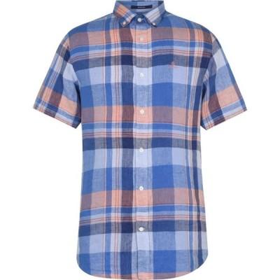 ガント Gant メンズ シャツ トップス Madras Shirt Pale Blue