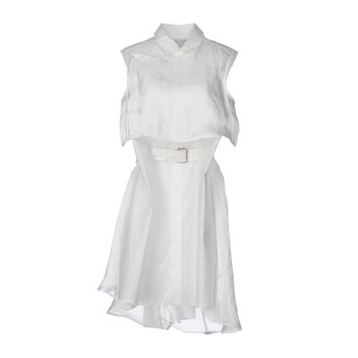 ワイスリー Y-3 ミニワンピース&ドレス アイボリー M コットン 100% ミニワンピース&ドレス