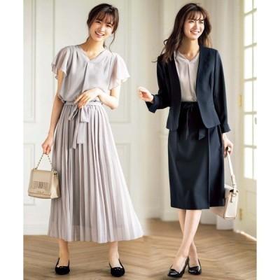 【4点スーツ】デザイン違いスカート2本セット4点スーツ