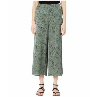 エイリーンフィッシャー カジュアルパンツ ボトムス レディース Silk Organic Cotton Cropped Pants Nori