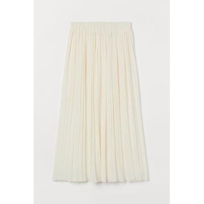 H&M - プリーツマキシスカート - ホワイト