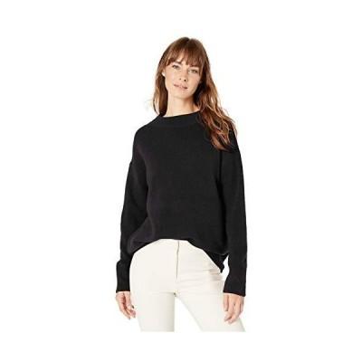並行輸入品Lark & Ro レディース ブークル モックネック オーバーサイズ セーター, ブラック, XX-Large
