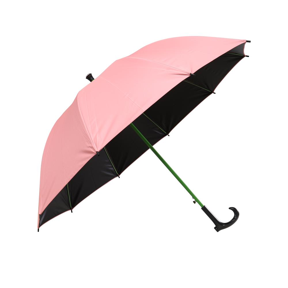 大傘面黑膠防風健行傘