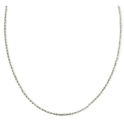 メイシーズ Macy's レディース ネックレス ジュエリー・アクセサリー 14k White Gold Necklace (1-3/4mm), 20 Seamless Rope No Color