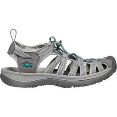 キーン レディース サンダル シューズ Whisper Sandal Medium Grey/Peacock Green