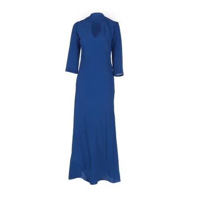 KITAGI® ロングワンピース&ドレス ブルー 40 アセテート 69% / シルク 31% ロングワンピース&ドレス