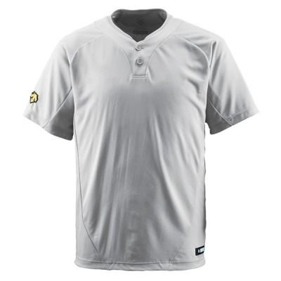 【送料290円】デサント 2ボタンTシャツ シルバー DESCENTE DB201 SLV