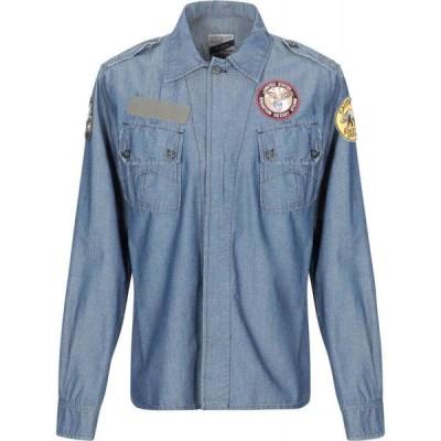ヒストリー リピート HISTORY REPEATS メンズ シャツ デニム トップス denim shirt Blue