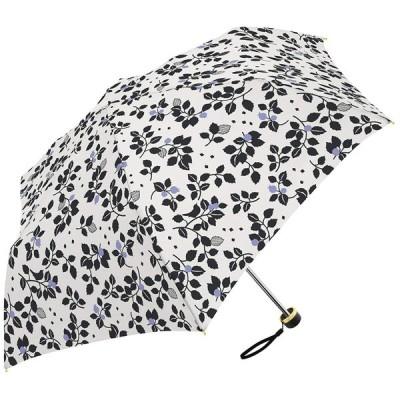 ミクニ リーフ 全3色 折りたたみ傘 手開き 日傘/晴雨兼用傘 オフ ホワイト 6本骨 55cm 遮光 UVカット 97% 以上 シルバーコ