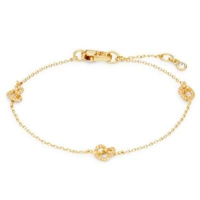 ケイトスペード ブレスレット ● Kate Spade Loves Me Knot Pave Knot Chain Bracelet (Gold) パヴェ ノット チェーン ブレスレット (ゴールド)