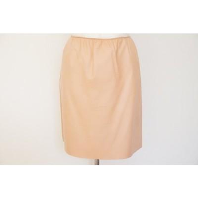 #axc プラダ PRADA スカート 40 ピンク系 ヌメ革 レザー 重ね履き用 イタリア製 レディース [641210]