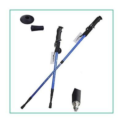 送料無料!ZXy Collapsible Tri-fold Trekking Pole/Hiking Poles 2 Pack - Adjustable Lightweight Aluminum Walking Sticks