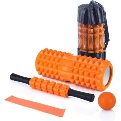フォームローラー 筋膜リリース ヨガポール ストレッチ スティック 5点セット マッサージ ボール ローラー ショート ハーフ エクササイズ トレーニング 器具