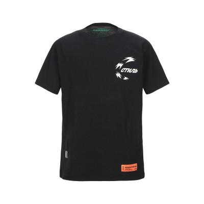 HERON PRESTON T シャツ ブラック XS コットン 100% / ポリエステル T シャツ