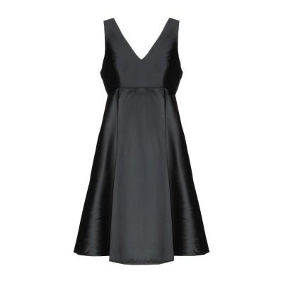 パロッシュ P.A.R.O.S.H. ミニワンピース&ドレス ブラック L 93% ポリエステル 7% シルク ミニワンピース&ドレス