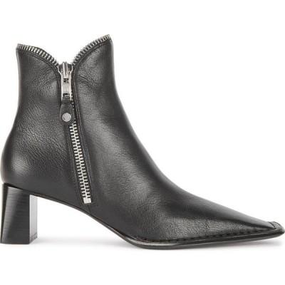 アレキサンダー ワン Alexander Wang レディース ブーツ ショートブーツ シューズ・靴 Lane 50 Black Leather Ankle Boots Black