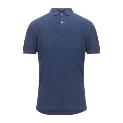 グラン サッソ GRAN SASSO ポロシャツ ダークブルー 50 コットン 100% ポロシャツ