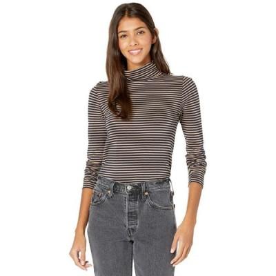 ジェイクルー レディース シャツ トップス Tissue Turtleneck T-Shirt in Stripes