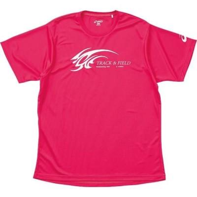 アシックス プリントTシャツHS 17B ピンク(xt569n-17b)