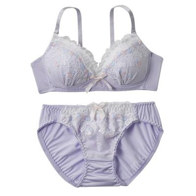 プリンセスリボンレースポップカラー ノンワイヤーブラ&ショーツ(M) (ブラジャー&ショーツセット)Bras & Panties