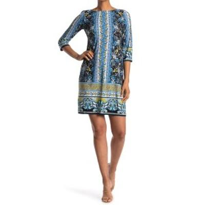 ロンドンタイムス レディース ワンピース トップス Border Pattern Jersey Shift Dress NVYBLUE