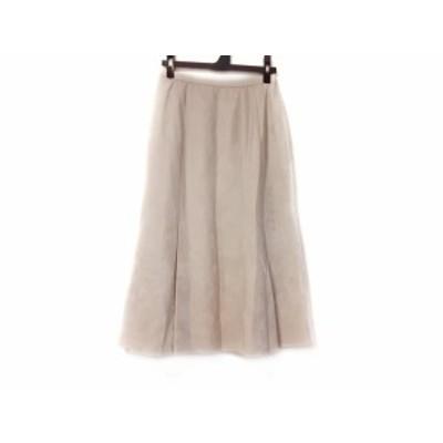 レリアン Leilian スカート サイズ9 M レディース アイボリー【中古】20200718