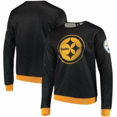 Forever Collectibles フォーエバー コレクティブル 服 スウェット Pittsburgh Steelers Black Static Rain Pullover