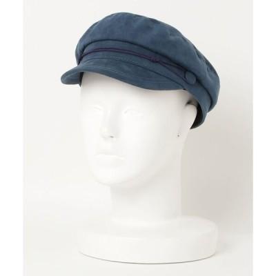 帽子 キャスケット PU SUEDE MARINE(ST)