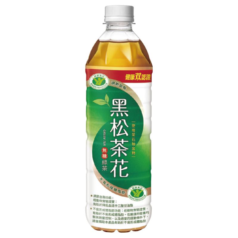 黑松茶花綠茶-無糖Pet580ml