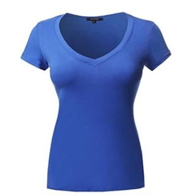 ユニセックス 衣類 トップス Sexy Plus Size Low-Cut Cleavage V-Neck T-Shirt Tee Top 1x2x3x Tシャツ