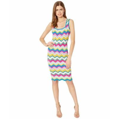 ミリー ワンピース トップス レディース Chevron Stripe Fitted Dress Rainbow Multi