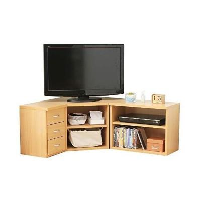 アイリスプラザ テレビ台 32型 コーナー テレビボード 組み換え自由自在 収納 幅75? ナチュラル