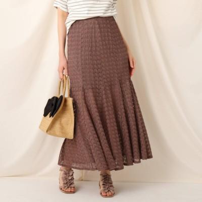 クチュール ブローチ Couture brooch クロシェマーメイドスカート (タバコブラウン)