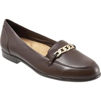 トロッターズ レディース サンダル シューズ Anastasia Flat Dark Brown Soft Nappa Leather