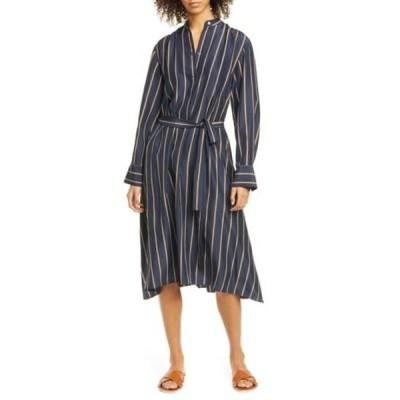 ヴィンス レディース ワンピース トップス Silky Stripe Panel Dress COASTAL