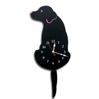 犬掛け時計壁時計アナログいぬdogインテリアペット雑貨レコード壁時計モダンデザインウォールアートゴールデンラブラドール