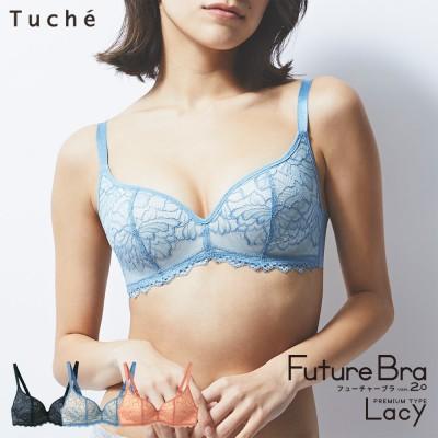 GUNZE グンゼ Tuche(トゥシェ) 【Future Bra レーシータイプ】ノンワイヤーブラジャー(レディース) シャロンピンク D65