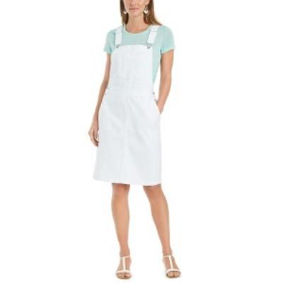 スタイルアンドコー レディース ワンピース トップス Denim Overalls Dress, Created for Macy's Bright White