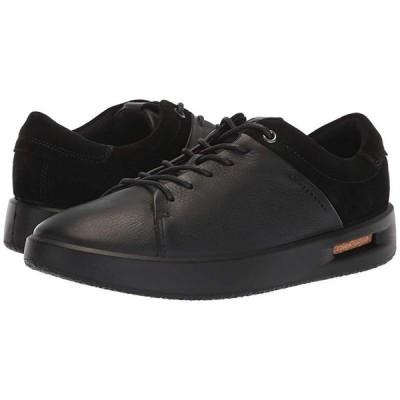 エコー Corksphere 1 Tie レディース スニーカー Black Leather/Black Suede