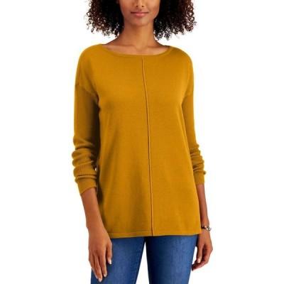 スタイル&コー Style & Co レディース ニット・セーター トップス Petite Seam-Front Sweater Golden Sunrise